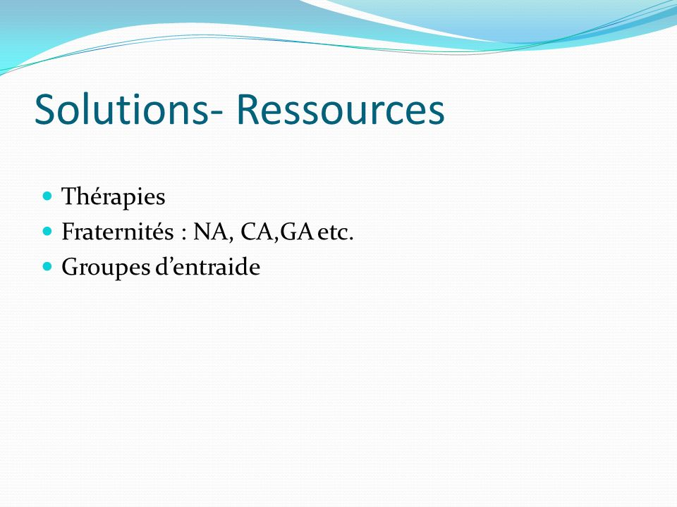 Solutions- Ressources