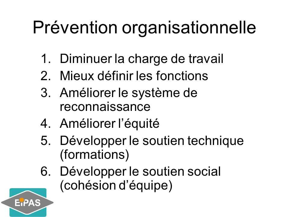 Prévention organisationnelle