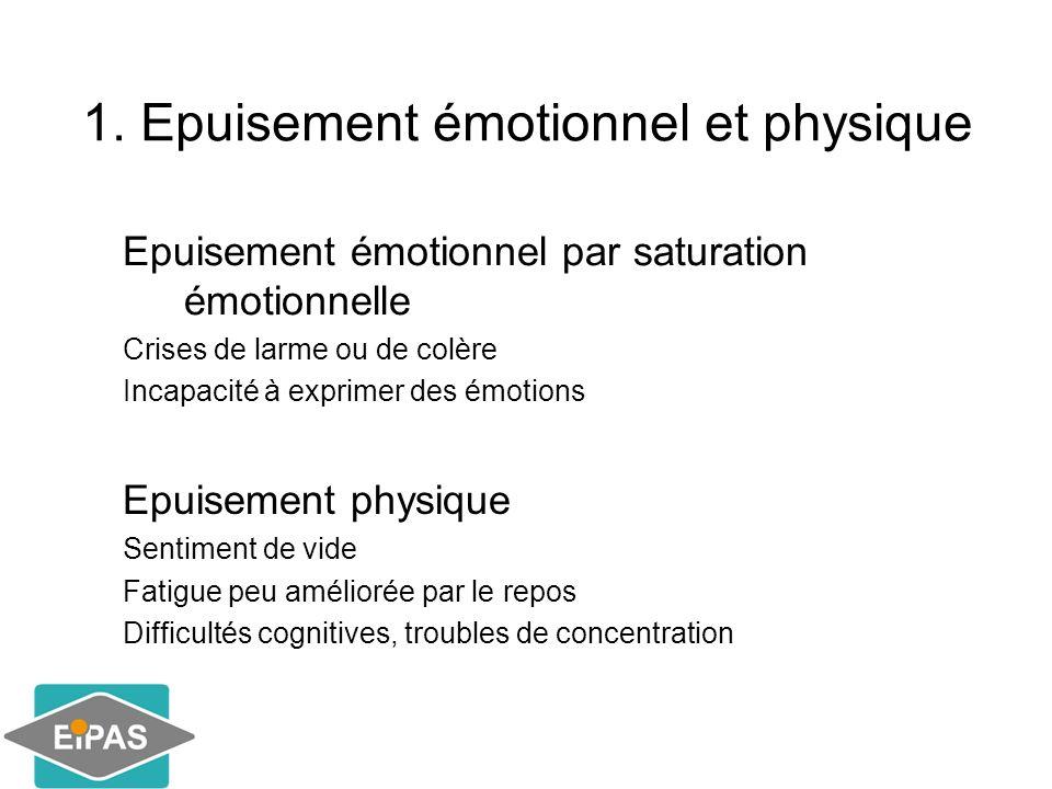 1. Epuisement émotionnel et physique