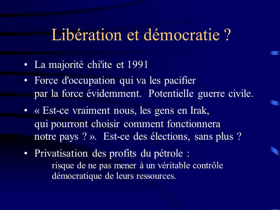 Libération et démocratie