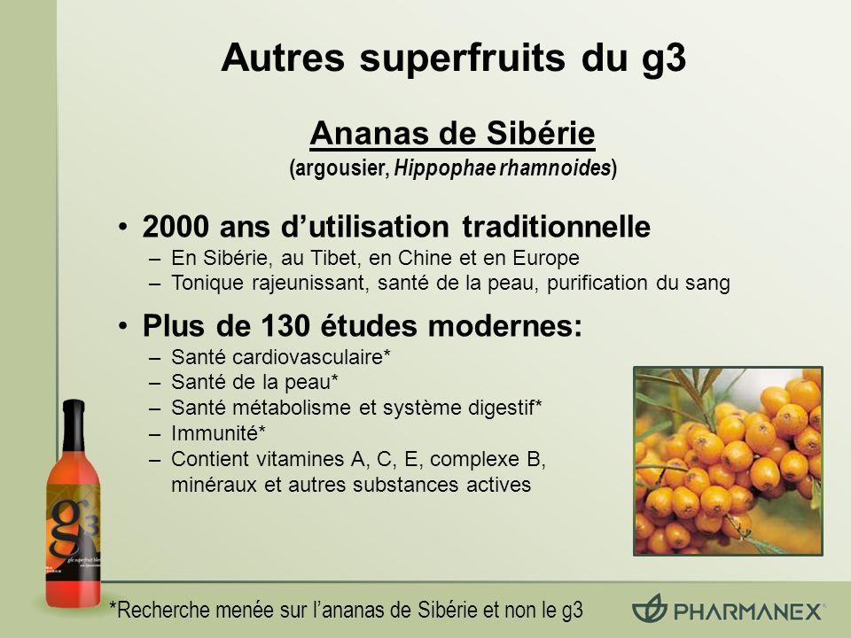 Autres superfruits du g3 (argousier, Hippophae rhamnoides)