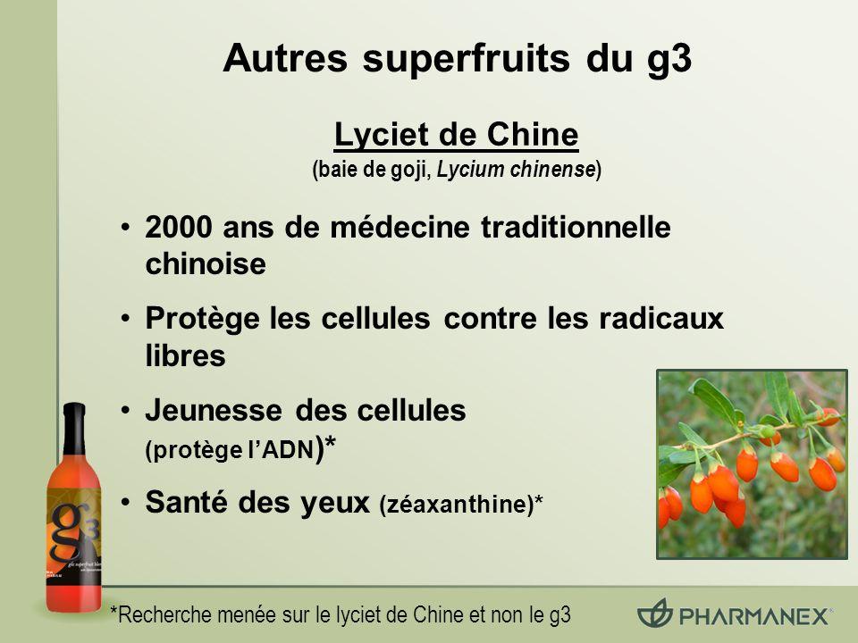 Autres superfruits du g3 (baie de goji, Lycium chinense)