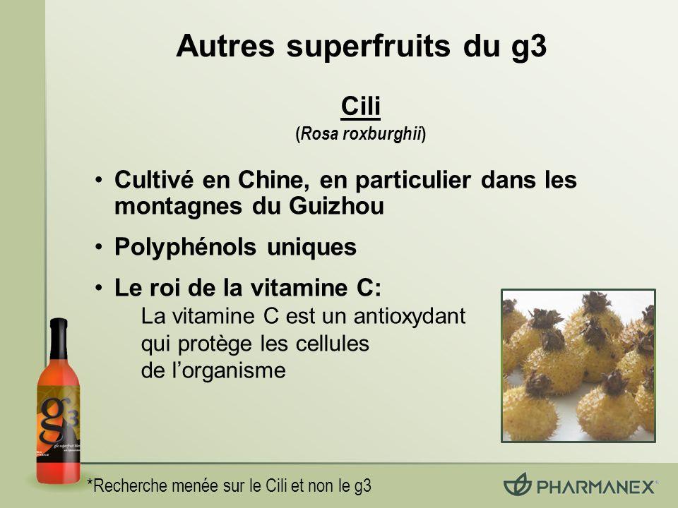 Autres superfruits du g3