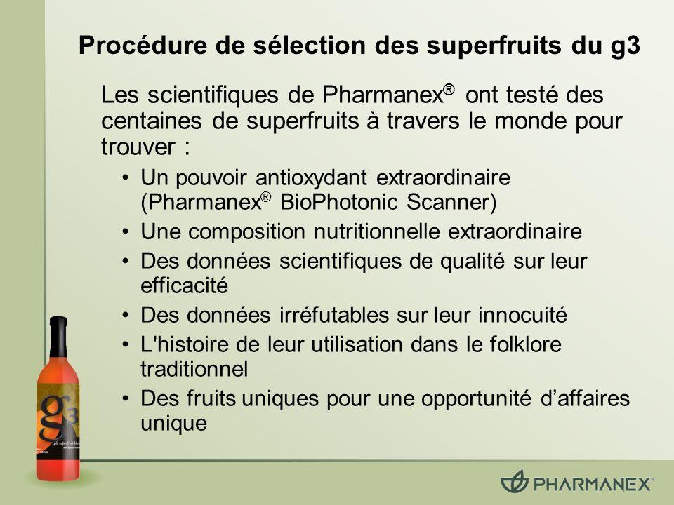 Procédure de sélection des superfruits du g3