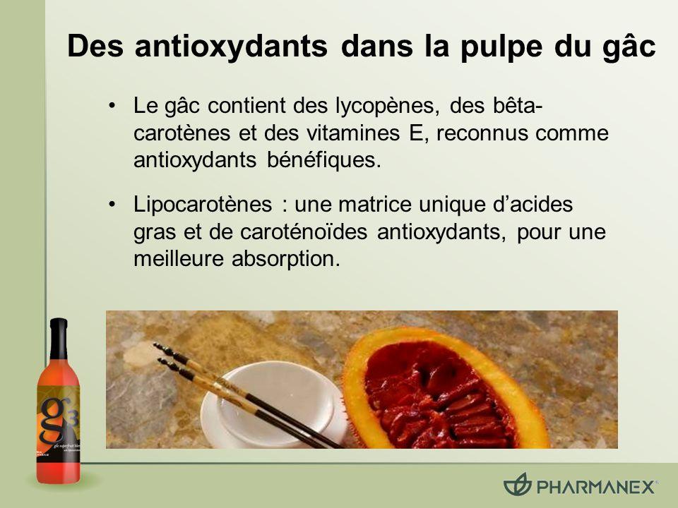 Des antioxydants dans la pulpe du gâc