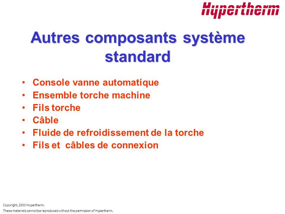 Autres composants système standard