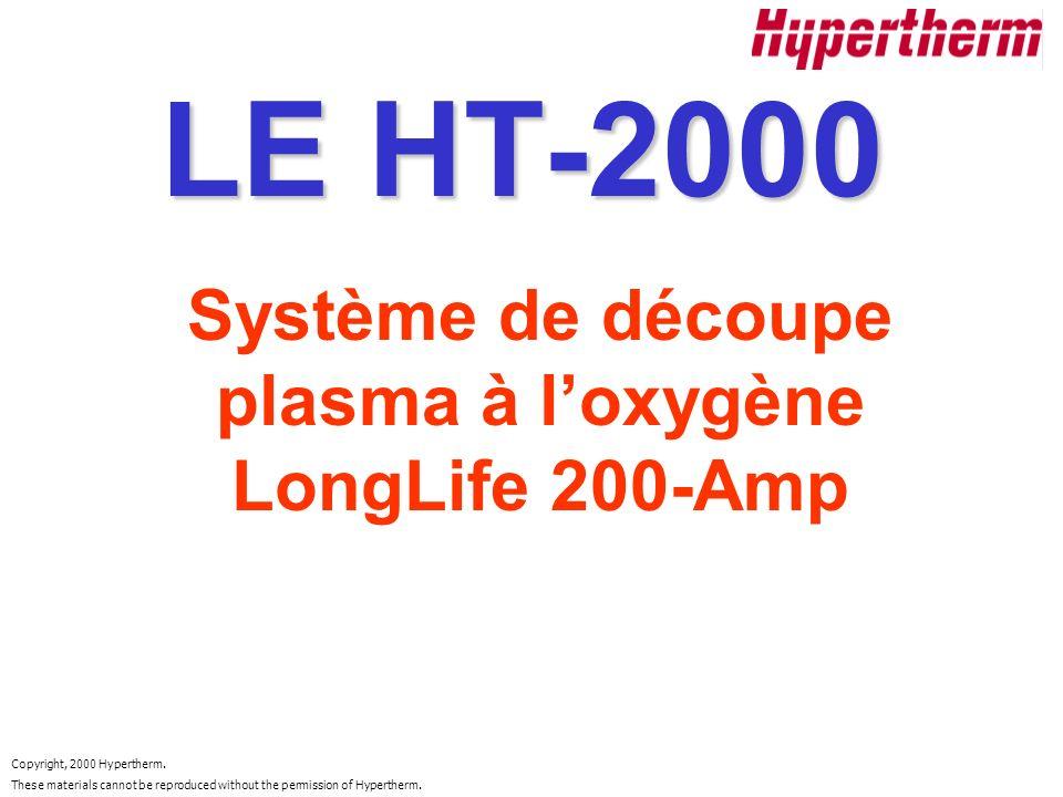 Système de découpe plasma à l'oxygène LongLife 200-Amp