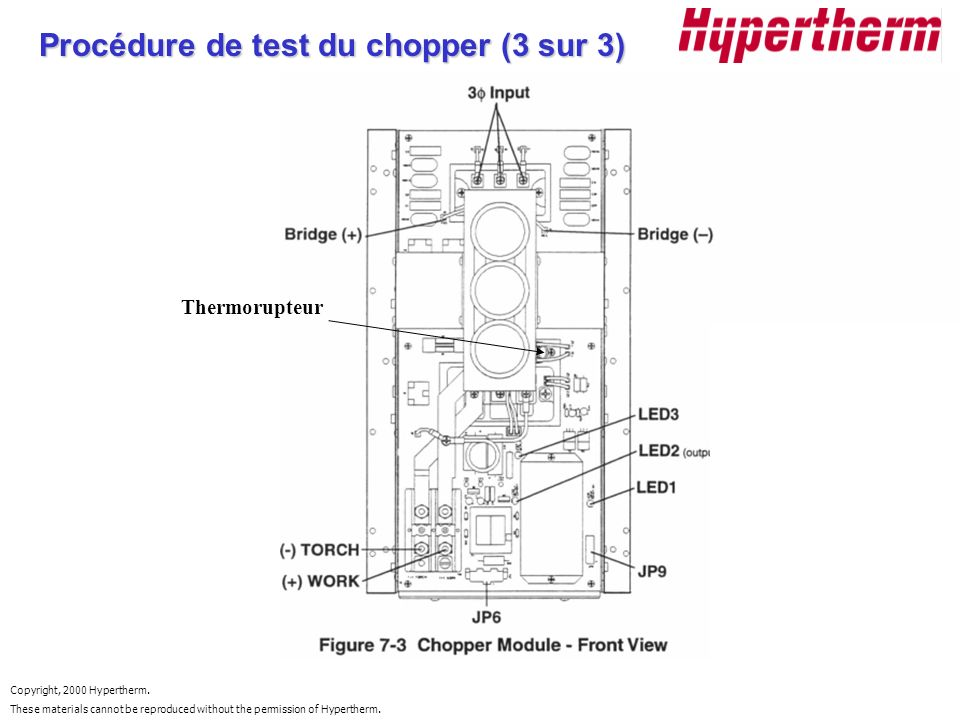 Procédure de test du chopper (3 sur 3)