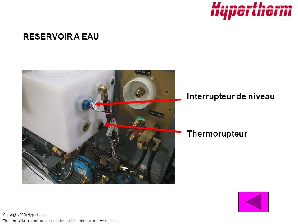 RESERVOIR A EAU Interrupteur de niveau Thermorupteur