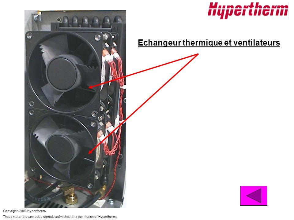 Echangeur thermique et ventilateurs