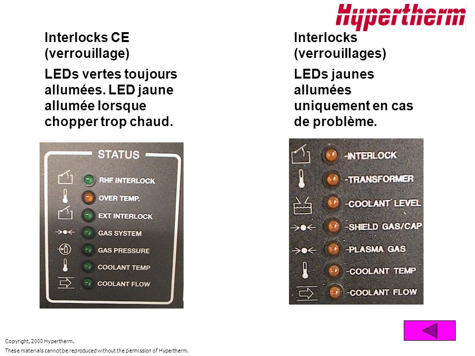 Interlocks CE (verrouillage)