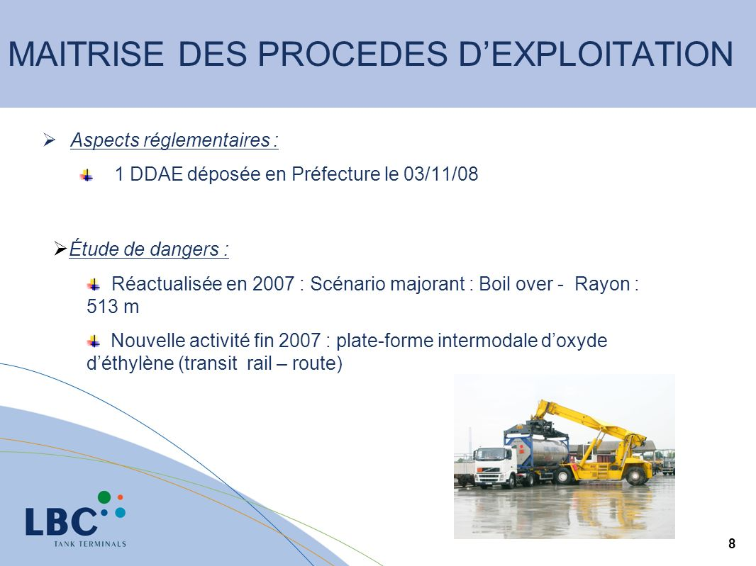 MAITRISE DES PROCEDES D'EXPLOITATION
