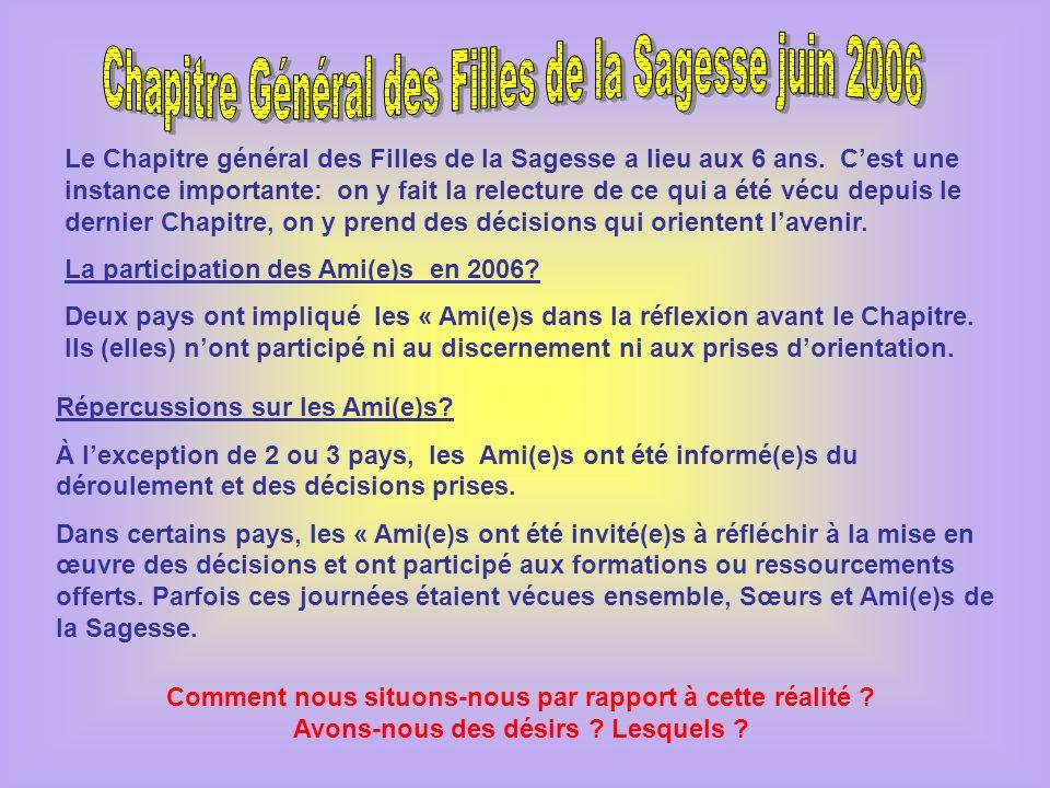 Chapitre Général des Filles de la Sagesse juin 2006