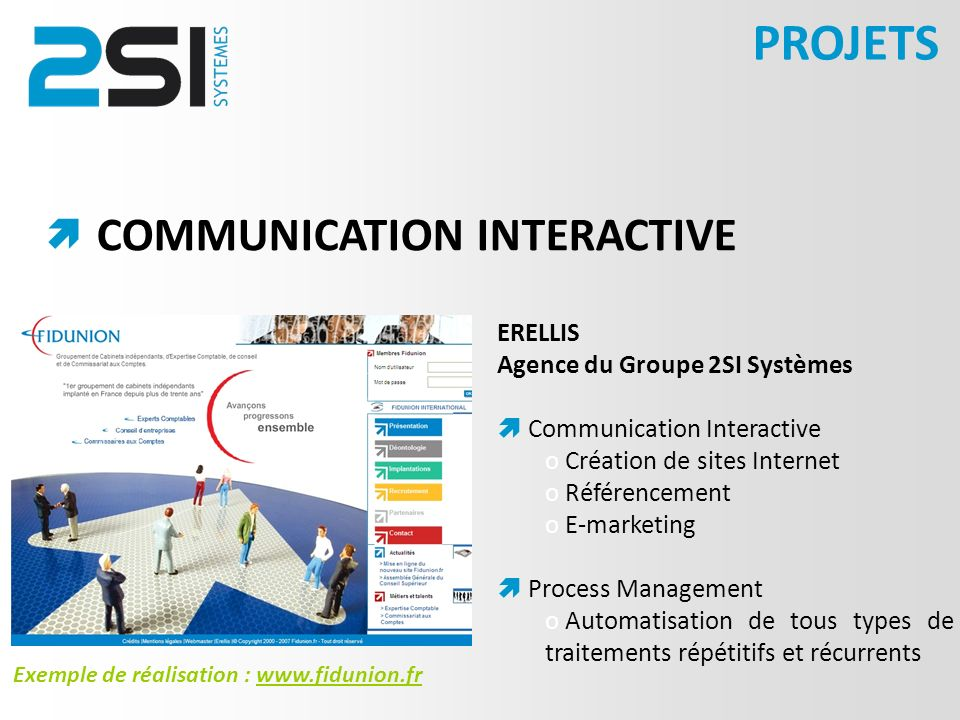 PROJETS COMMUNICATION INTERACTIVE  ERELLIS