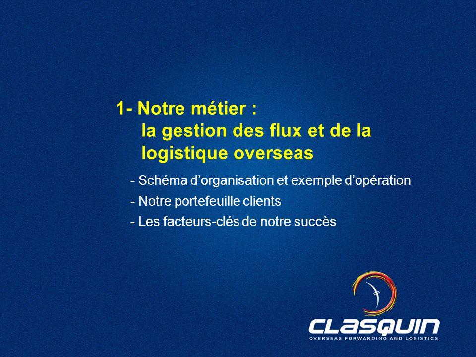 1- Notre métier : la gestion des flux et de la logistique overseas