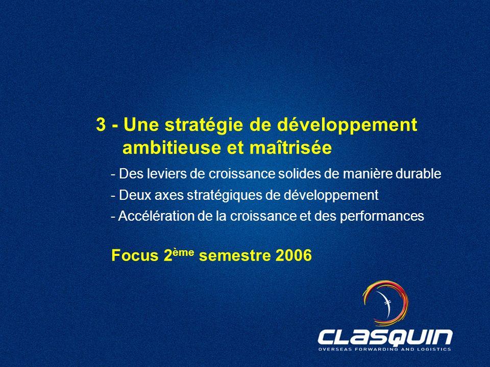 3 - Une stratégie de développement ambitieuse et maîtrisée