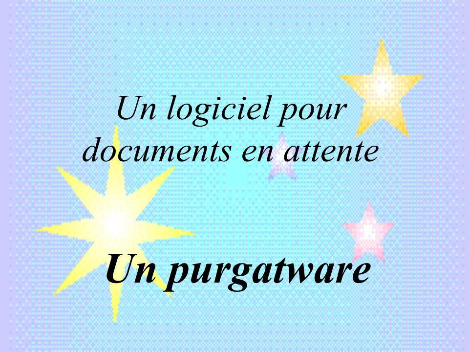 Un logiciel pour documents en attente
