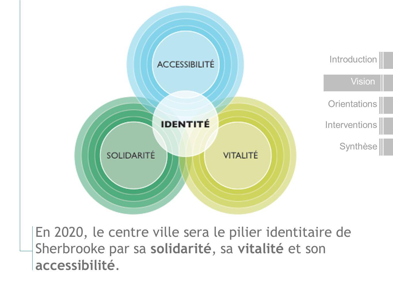 En 2020, le centre ville sera le pilier identitaire de Sherbrooke par sa solidarité, sa vitalité et son accessibilité.