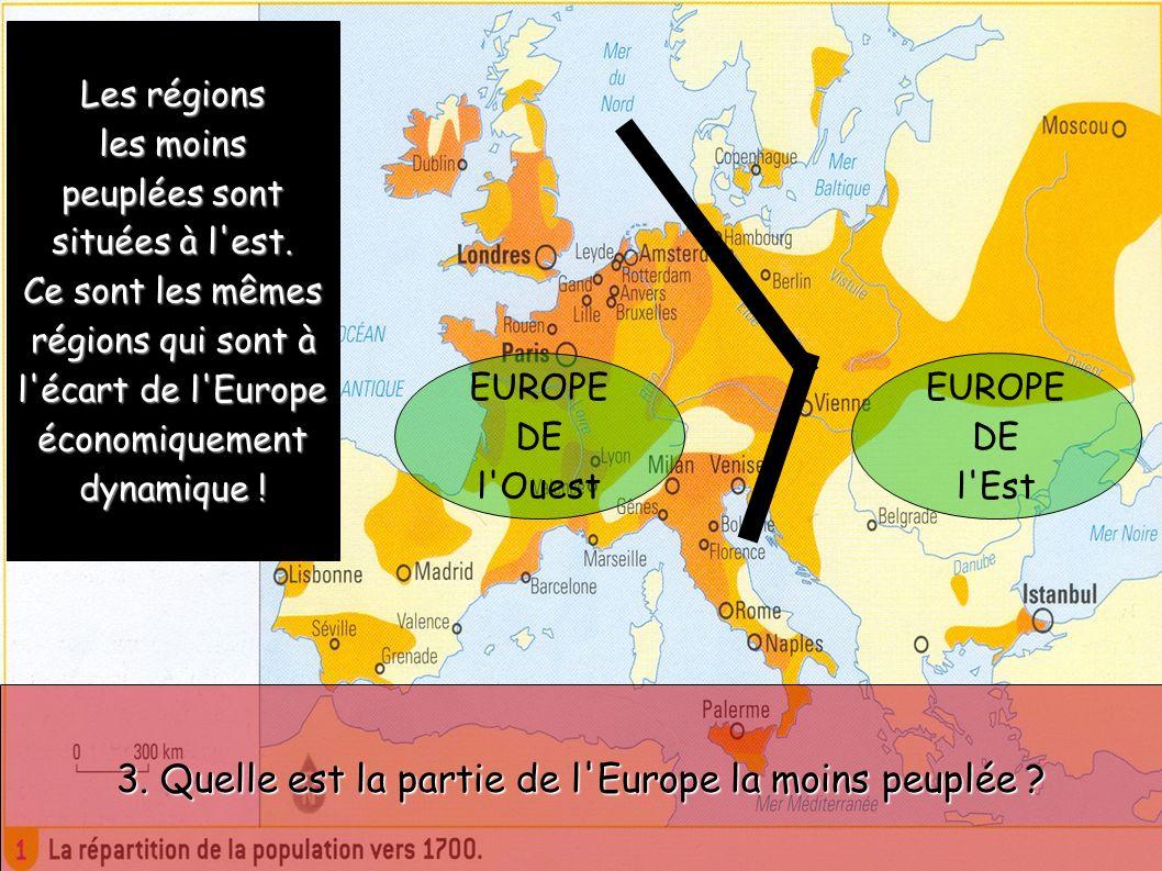 3. Quelle est la partie de l Europe la moins peuplée