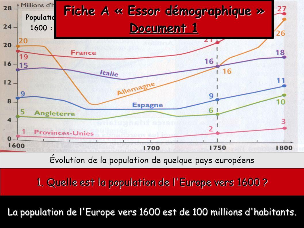 Fiche A « Essor démographique »