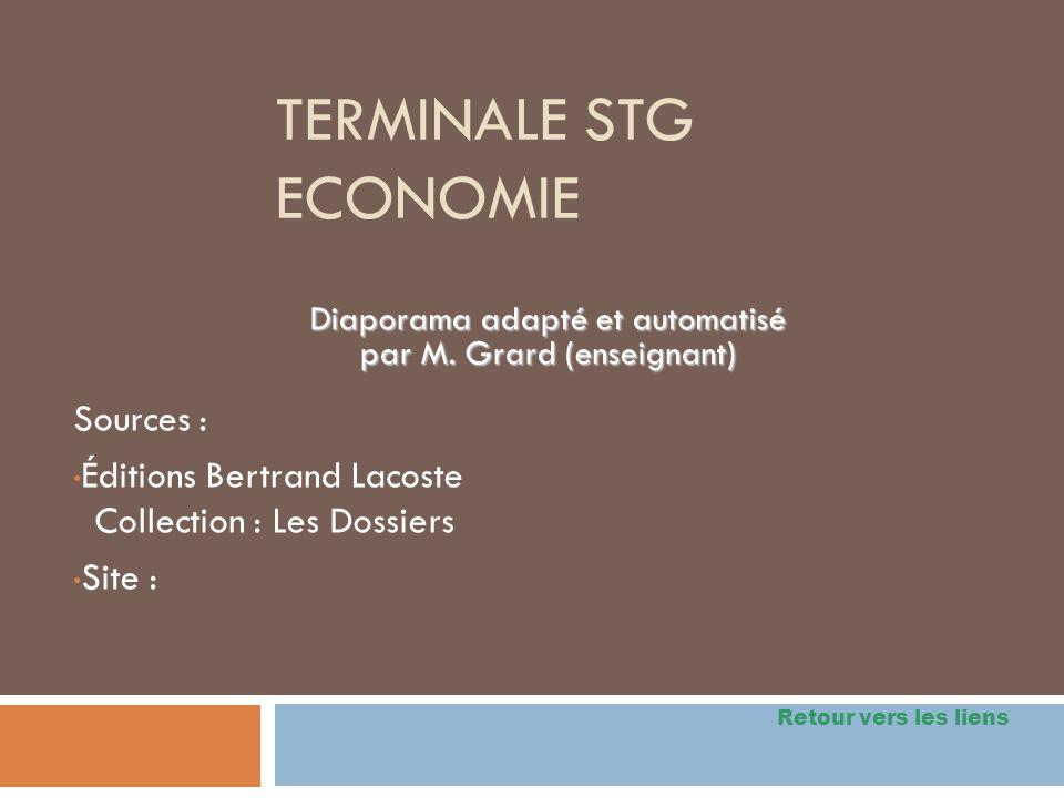 Terminale STG Economie