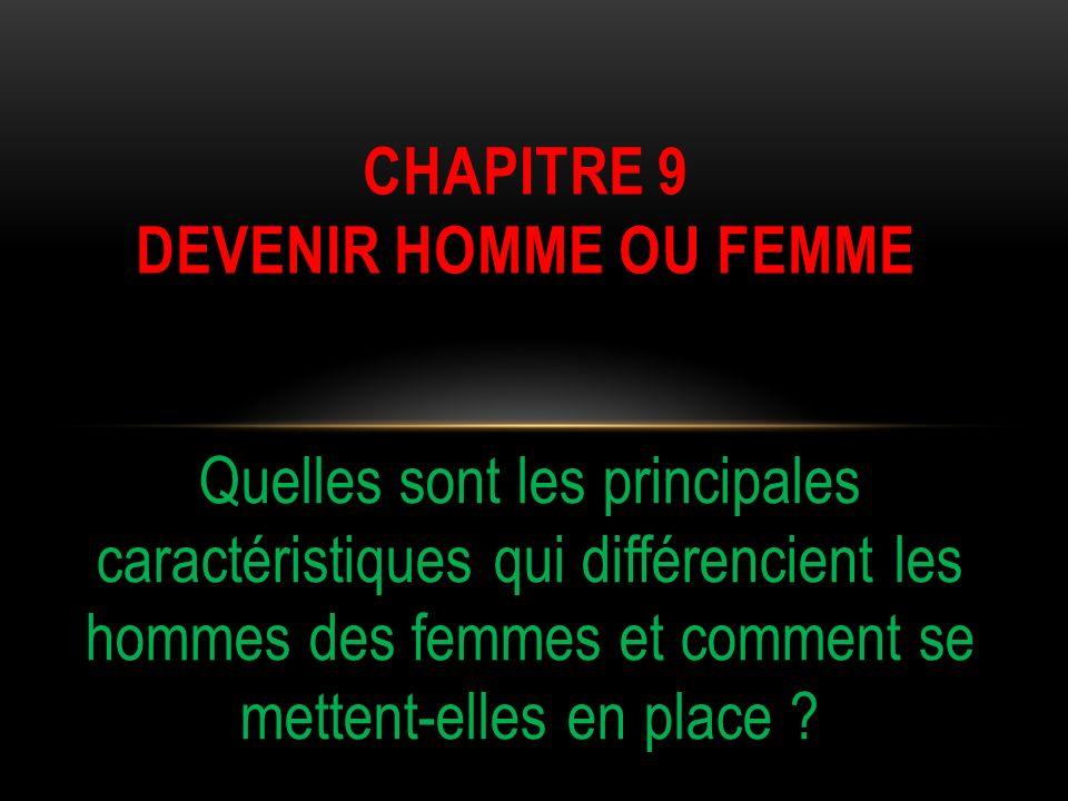 CHAPITRE 9 DEVENIR HOMME OU FEMME