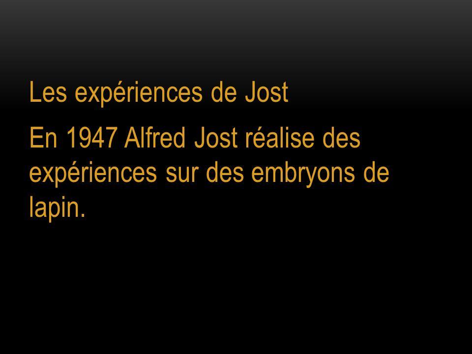 Les expériences de Jost