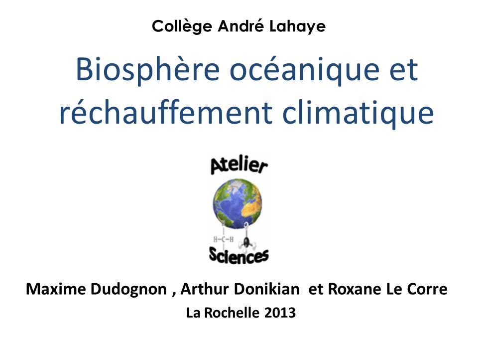 Biosphère océanique et réchauffement climatique