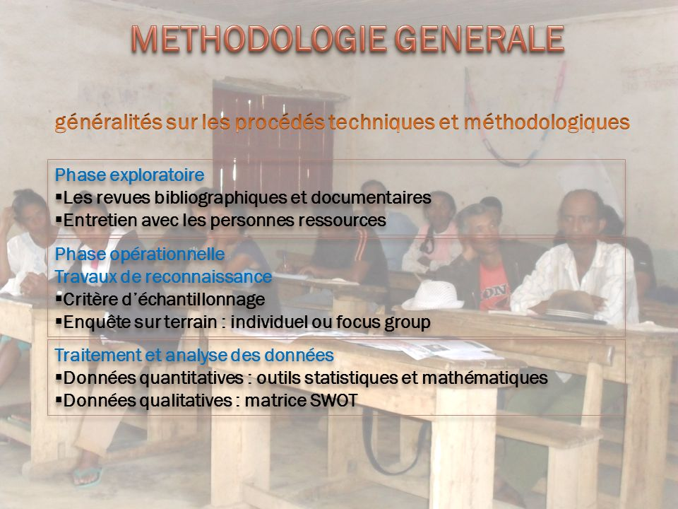 METHODOLOGIE GENERALE