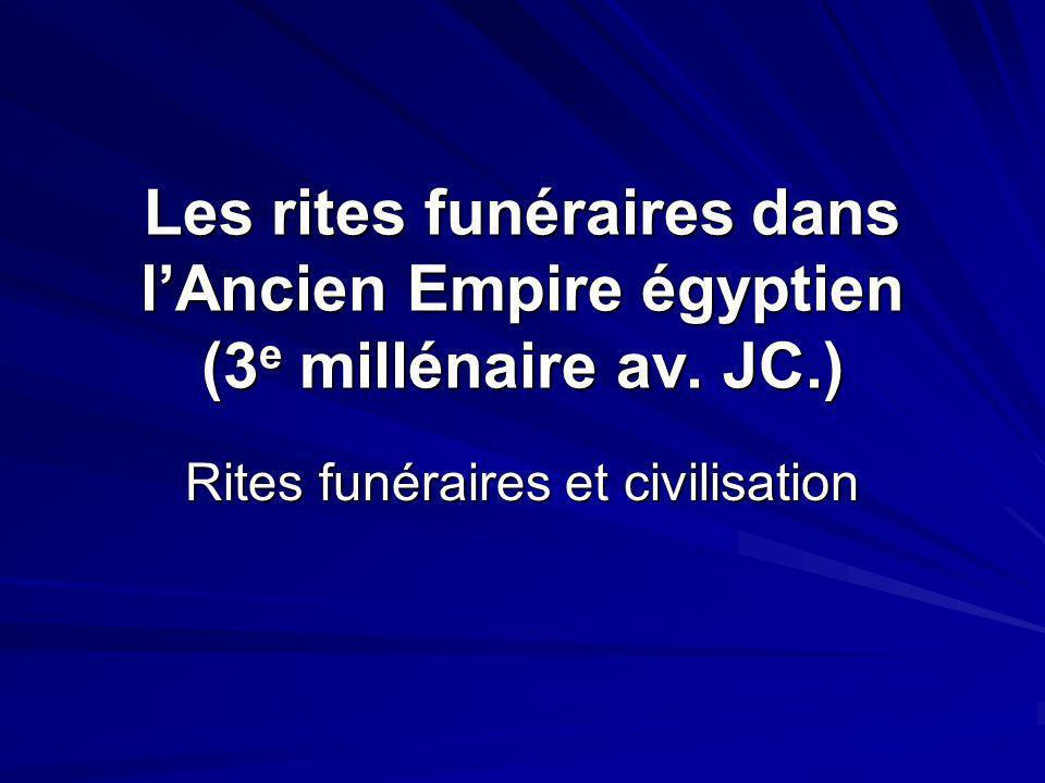 Rites funéraires et civilisation