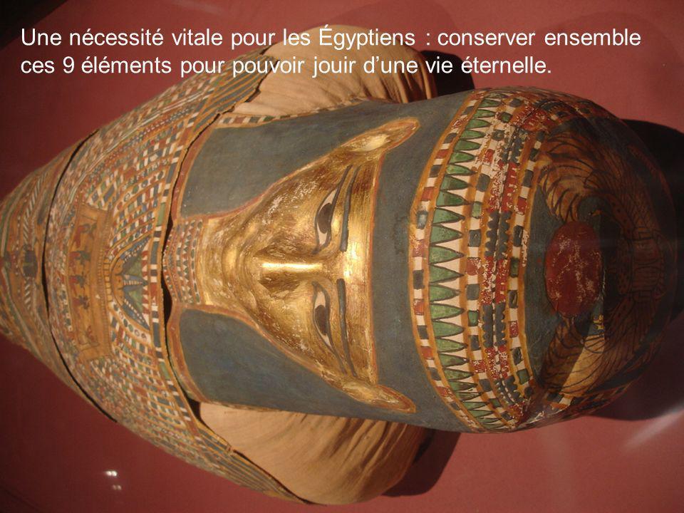 Une nécessité vitale pour les Égyptiens : conserver ensemble ces 9 éléments pour pouvoir jouir d'une vie éternelle.