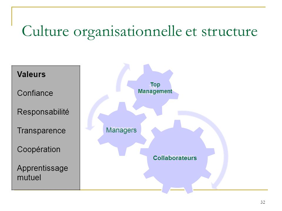 Culture organisationnelle et structure