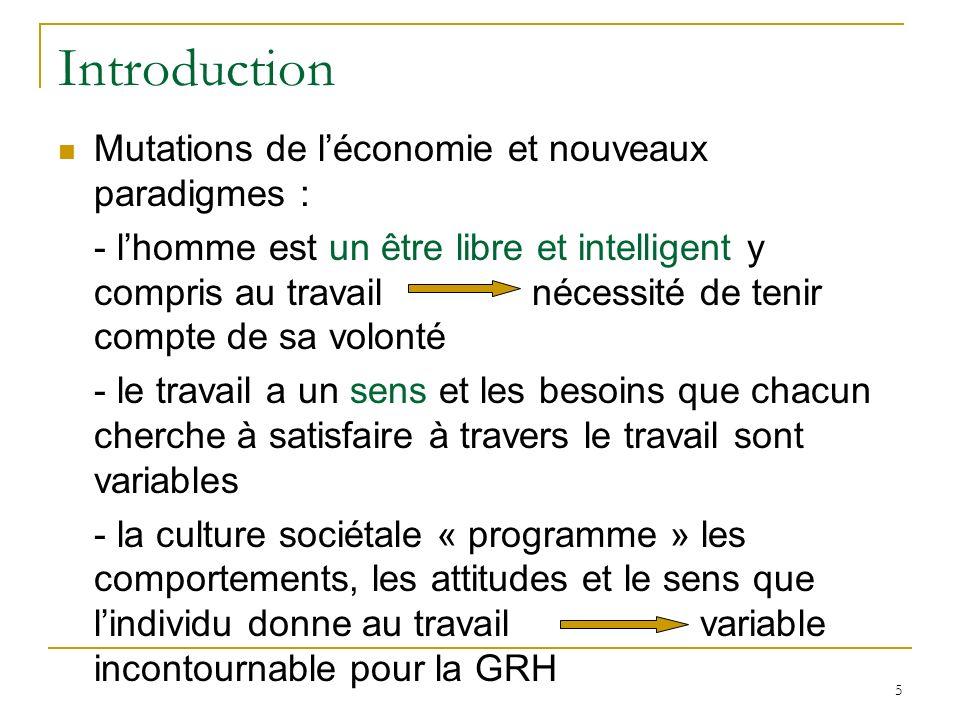 Introduction Mutations de l'économie et nouveaux paradigmes :