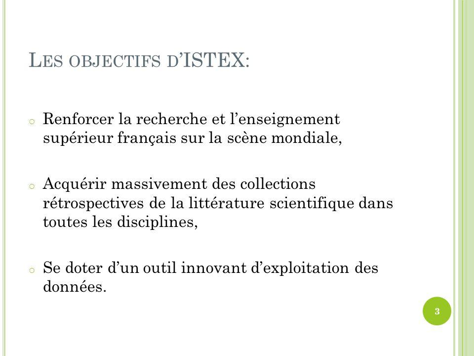Les objectifs d'ISTEX: