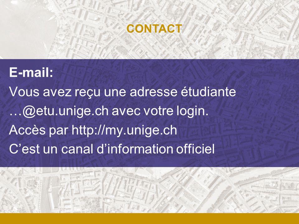 Vous avez reçu une adresse étudiante …@etu.unige.ch avec votre login.