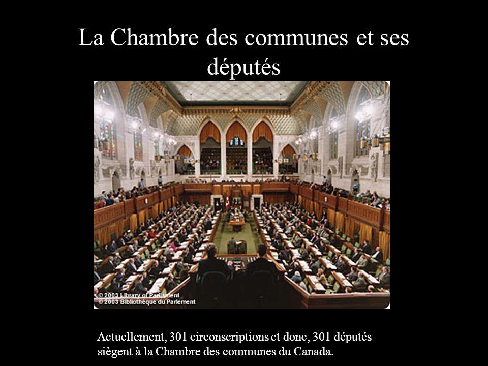 La Chambre des communes et ses députés