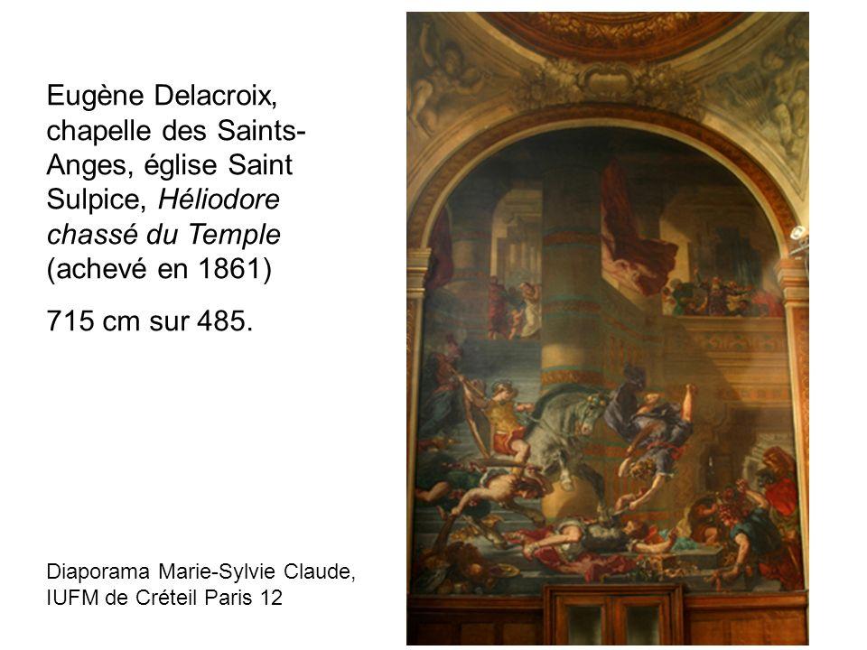 Eugène Delacroix, chapelle des Saints-Anges, église Saint Sulpice, Héliodore chassé du Temple (achevé en 1861)