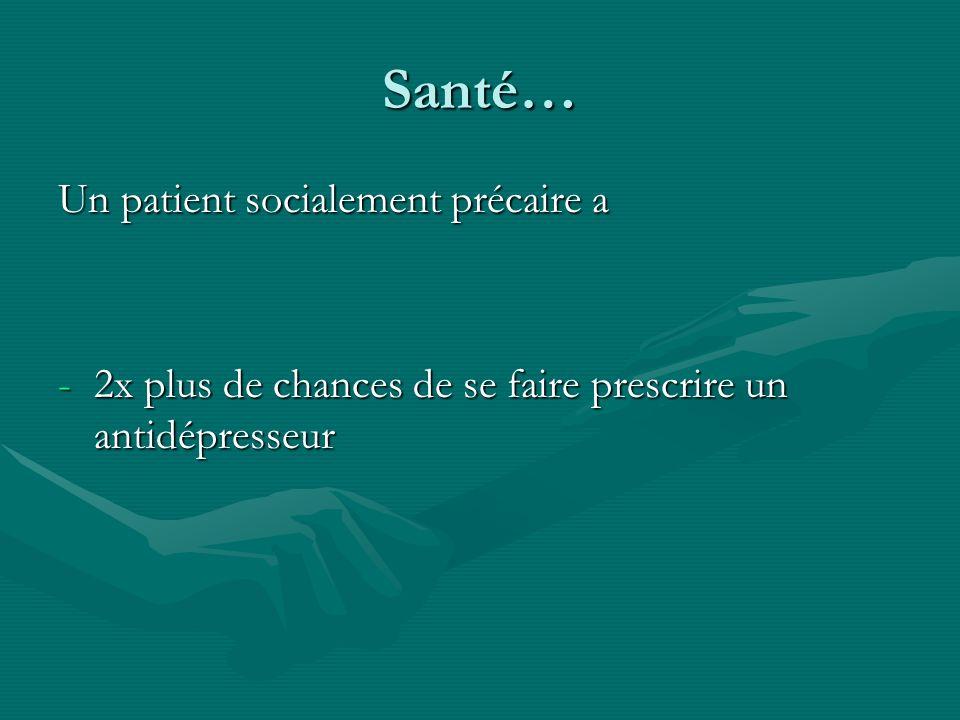 Santé… Un patient socialement précaire a