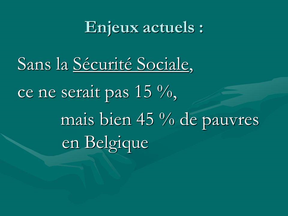 Sans la Sécurité Sociale, ce ne serait pas 15 %,