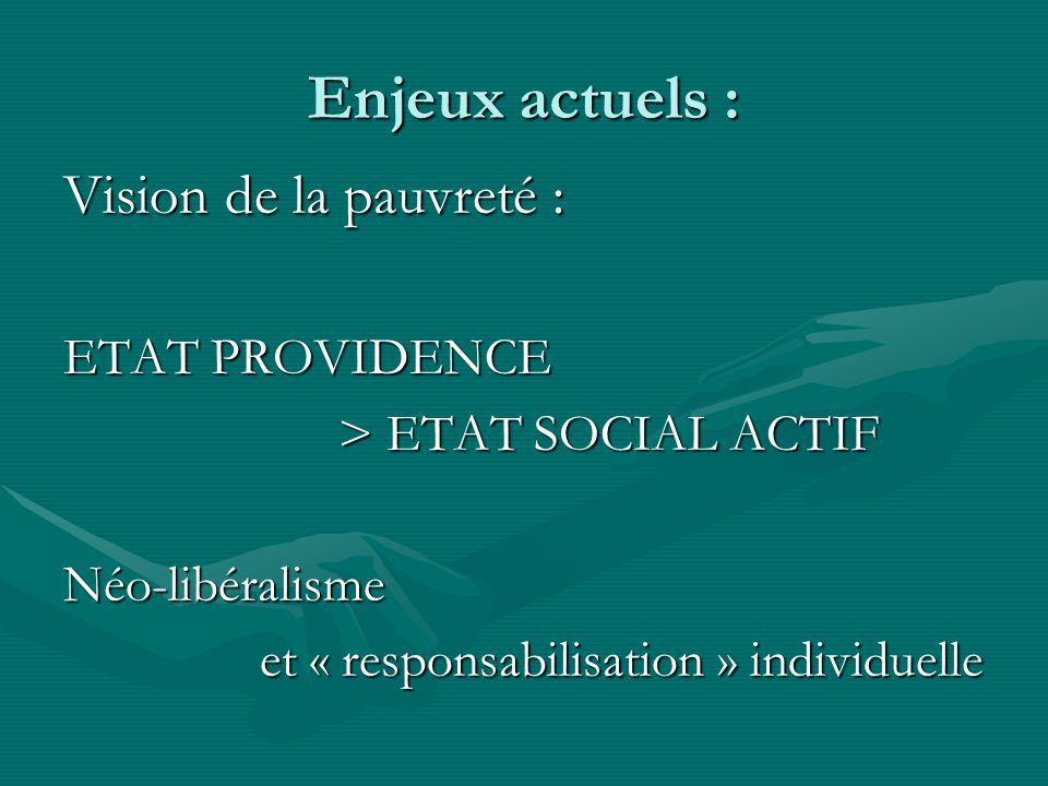 Enjeux actuels : Vision de la pauvreté : ETAT PROVIDENCE