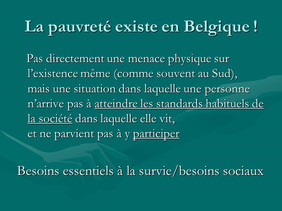 La pauvreté existe en Belgique !