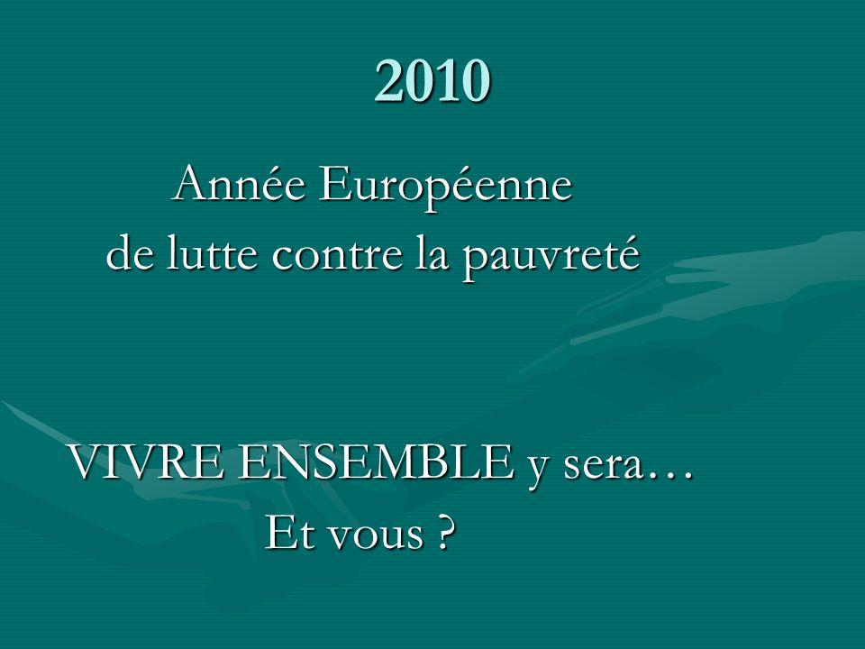 2010 Année Européenne de lutte contre la pauvreté