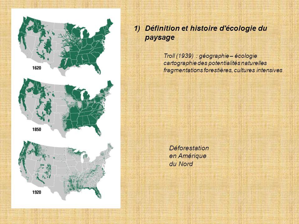 Définition et histoire d écologie du paysage