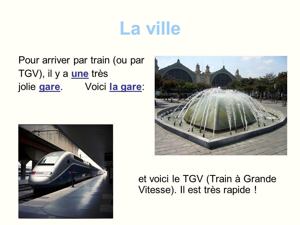 La ville Pour arriver par train (ou par TGV), il y a une très