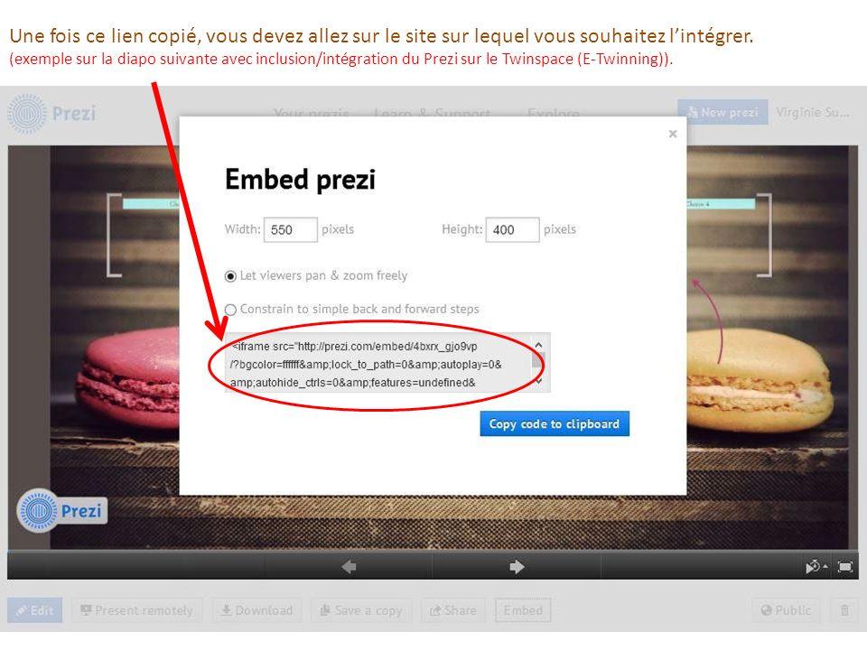 Une fois ce lien copié, vous devez allez sur le site sur lequel vous souhaitez l'intégrer.