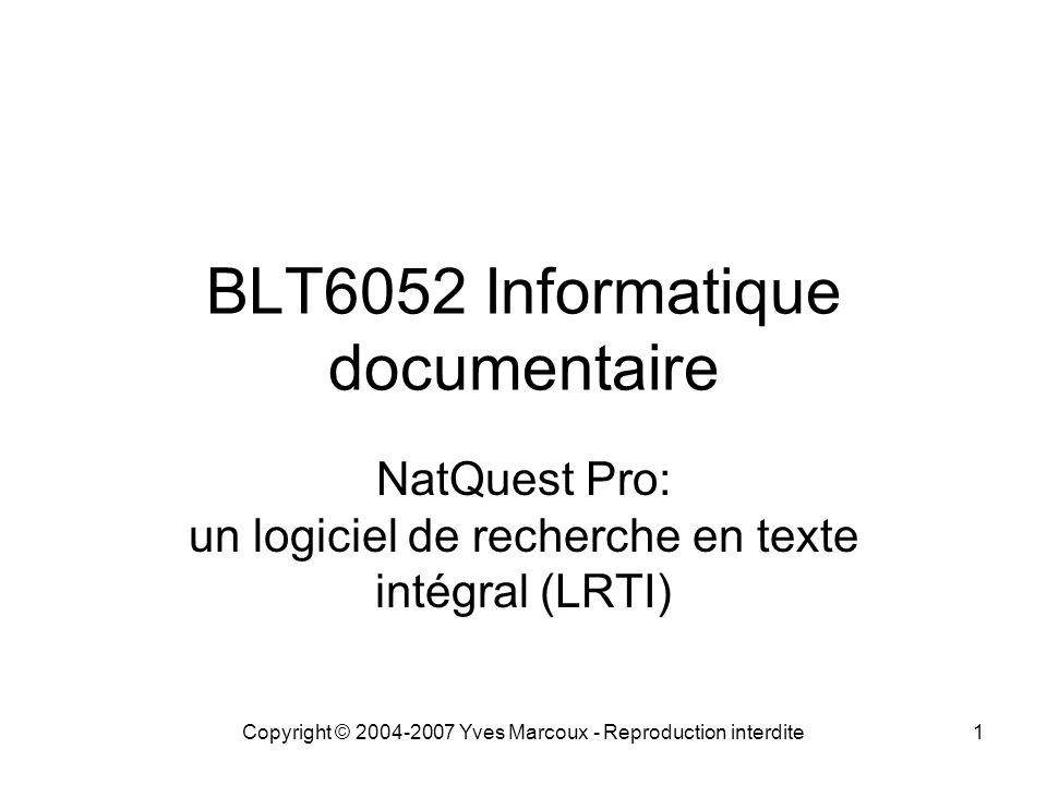 BLT6052 Informatique documentaire