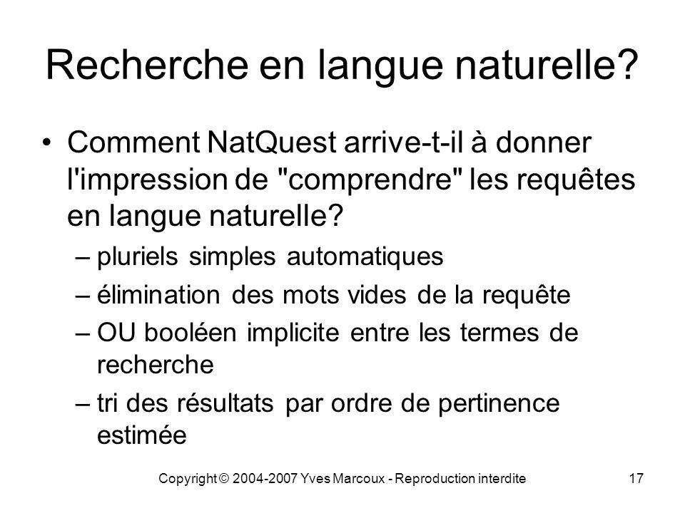 Recherche en langue naturelle
