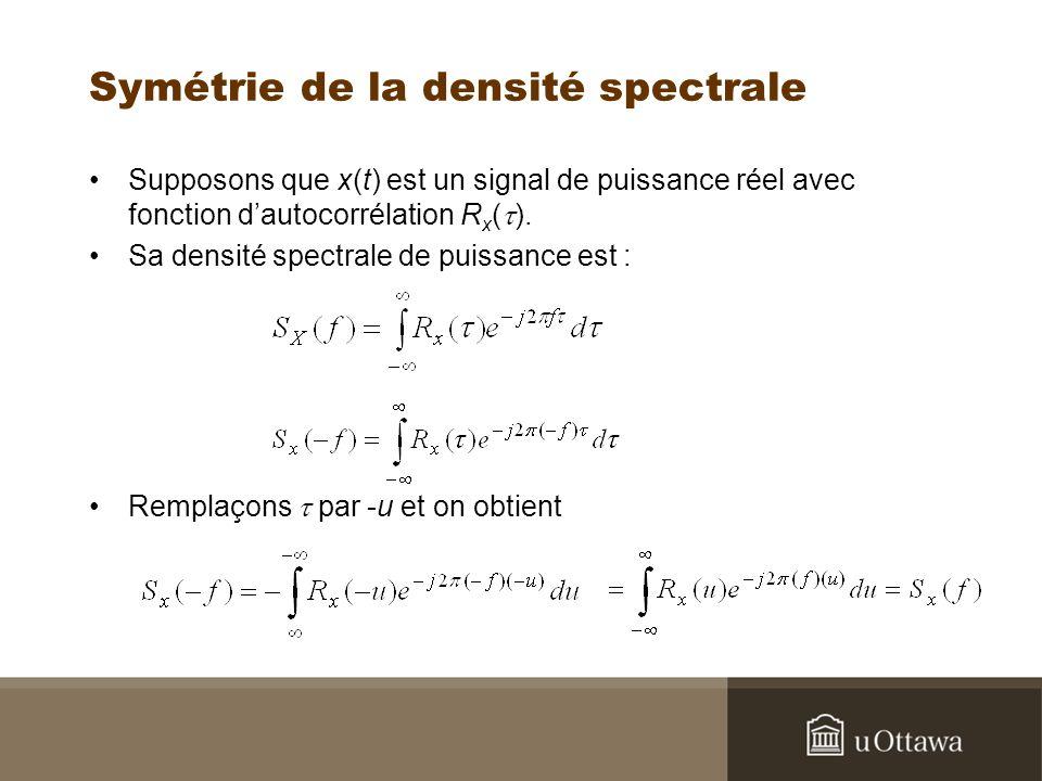 Symétrie de la densité spectrale