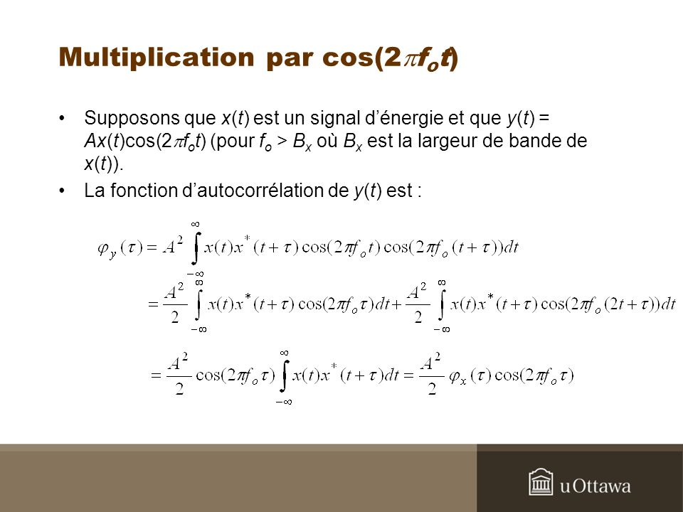Multiplication par cos(2pfot)