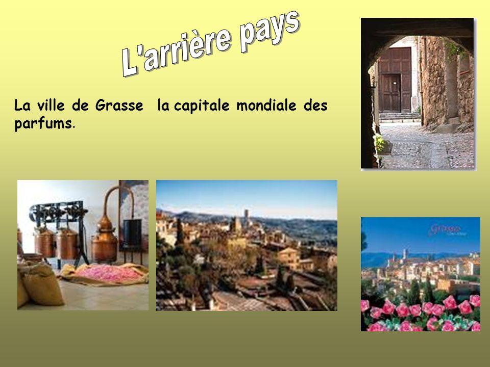 L arrière pays La ville de Grasse la capitale mondiale des parfums.